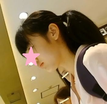 かわいいポニテちゃんの薄ピンクパンツを拝見(No.10)