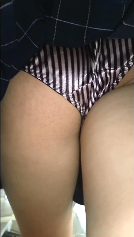 (ミニスカGALの派手パンティ)制服コスKちゃん全身撮りスカートめくりシリーズ15