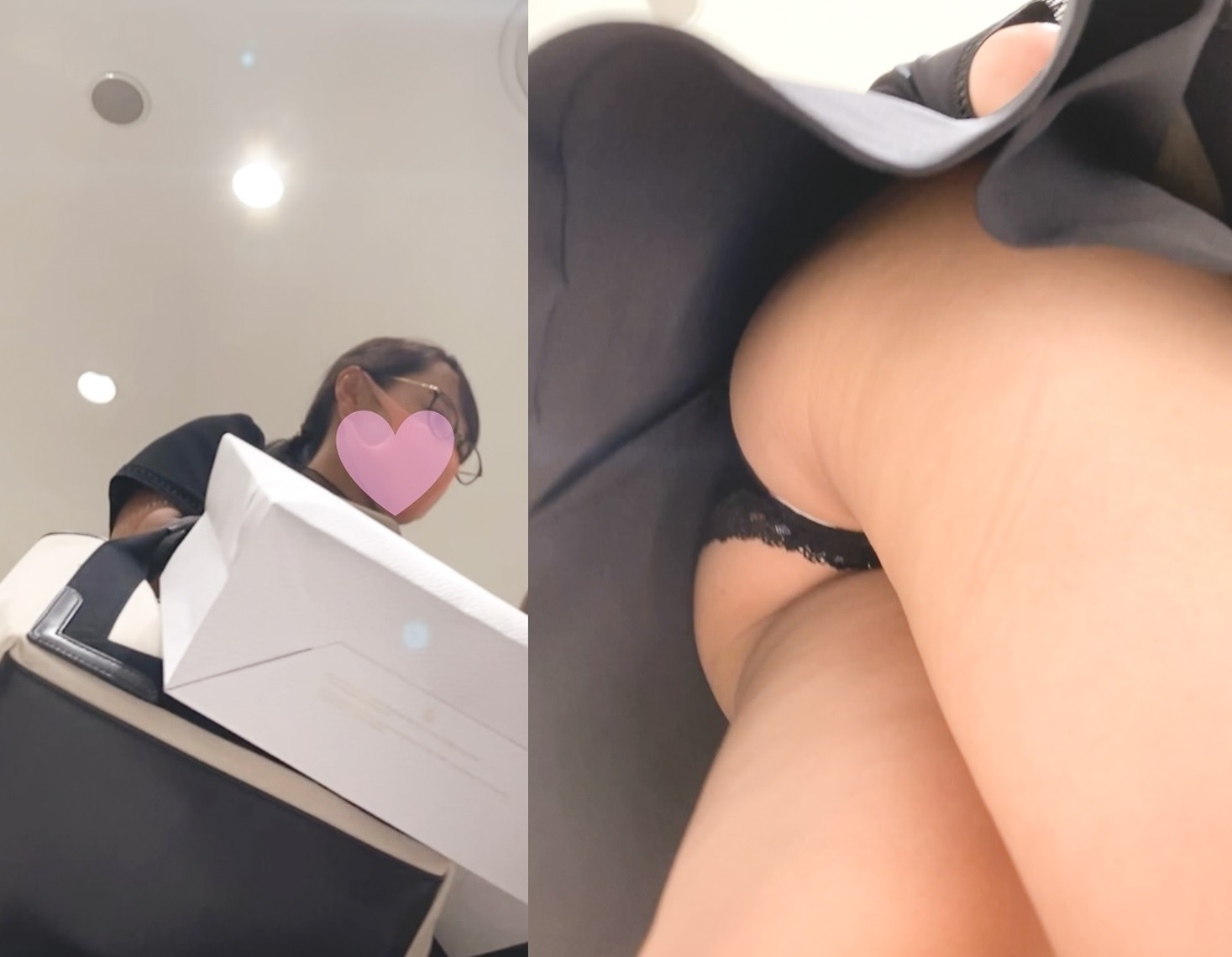 美しくエロいお尻が見えてる女の子2人分♡ダブルA面動画♡