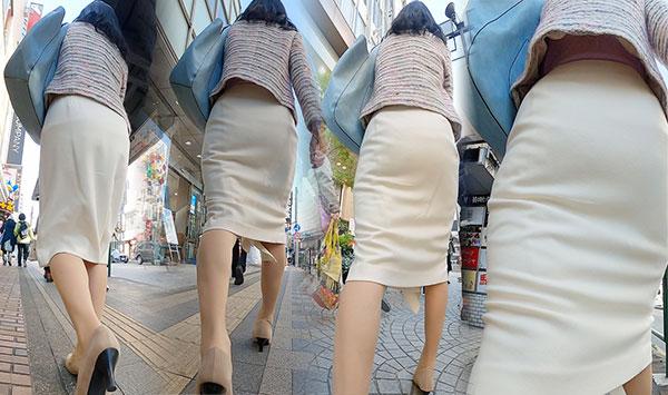 【熟女スカート】俺もこんな素敵な年上の女性と一緒に歩きたい